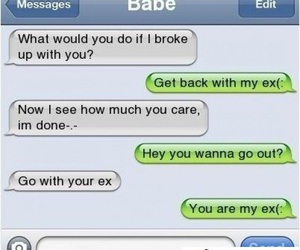 text, ex, and babe image