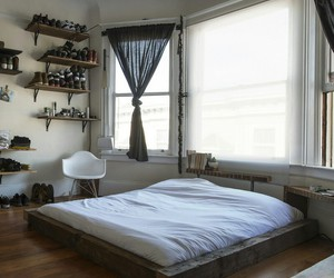 bedroom, design, and interiors image
