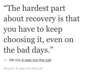 quote, recovery, and tumblr image