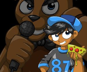 missing child, five nights at freddy's, and freddy fazbear image