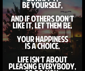 quote, be yourself, and happiness image