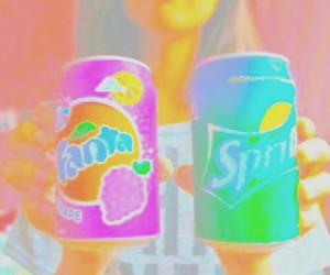 fanta, sprite, and tumblr image