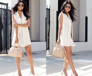 curly hair, dress, and fashion image
