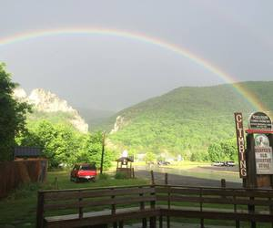 mountains, west virginia, and rainbows image