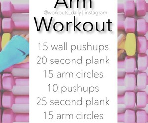 workout, arm, and fitness image