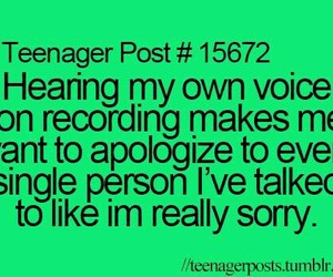 teenager post, funny, and voice image
