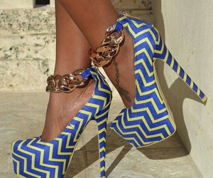 blue, pumps, and patterns image