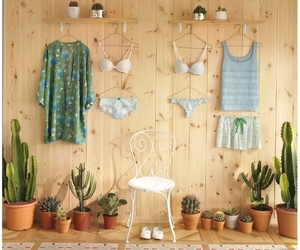 blue, cactus, and outfits image