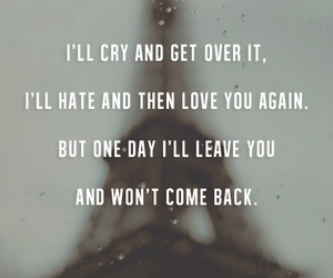 quote, love, and cry image