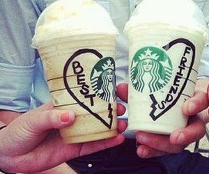starbucks, best friends, and drink image