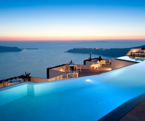 pool, Greece, and santorini image