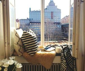 home, window, and city image