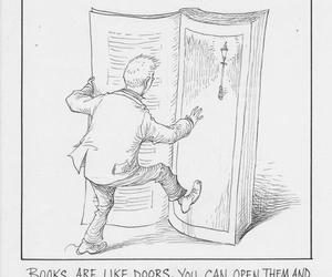 books, cartoon, and new world image