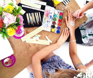 flowers and paint image