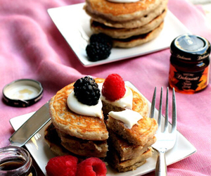 pancakes, breakfast, and delicious image