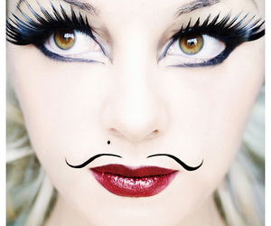 face, lady, and lashes image