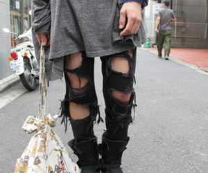fashion, grunge, and ripped image