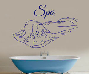wall decals, vinyl sticker, and spa massage image