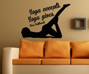 wall decals and gym decor image