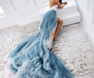 dress, blue, and beautiful image