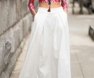 casual, fashion, and long skirt image
