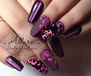 butterfly, manicure, and style image