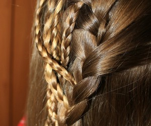 braid, hairstyle, and handmade image