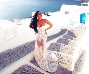 dress, luxury, and santorini image
