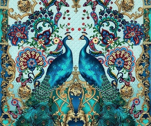 peacock, background, and art image