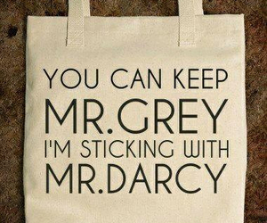bag, pride and prejudice, and mr darcy image