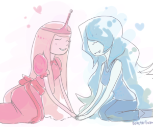 couple, marceline, and adventure time image