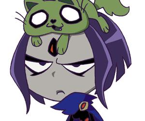 lol, raven, and beast boy image
