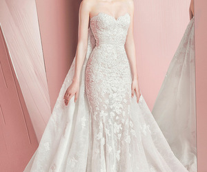 wedding dress, wedding, and Zuhair Murad image