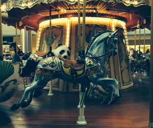 horse, carousel, and vintage image