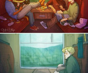 harry potter, remus lupin, and james image