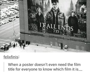 harry potter, poster, and movie image