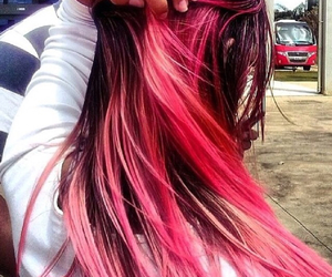 black, hair, and ombre image