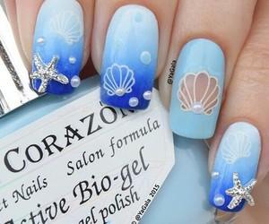 nails, blue, and summer image