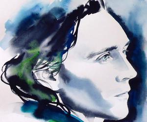 loki, art, and tom hiddleston image