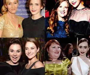 emma watson, Jennifer Lawrence, and jk rowling image