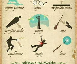 harry potter, spell, and book image