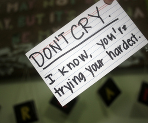 cry, text, and don't cry image