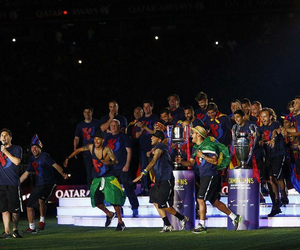 fc barcelona, messi, and celebrations image