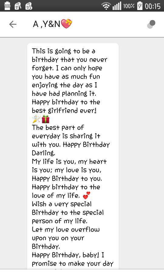 Part 1 Of Marco'a Birthday Message For Me💖 On We Heart It