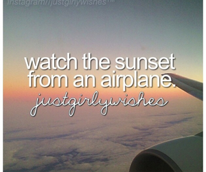 sunset, airplane, and beautiful image