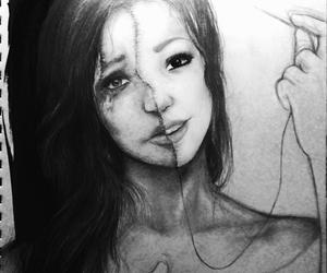 art, girl, and happy image
