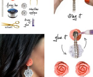 earrings, diy, and tutorial image