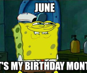 birthday, june, and month image