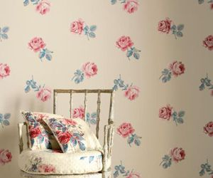 chair, vintage, and floral image