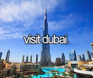 Dubai, travel, and visit image